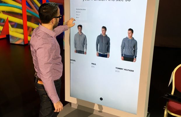Errol Denger, director of commerce at Adobe, demos the company's new personalized retailing solution. Photo: Adobe