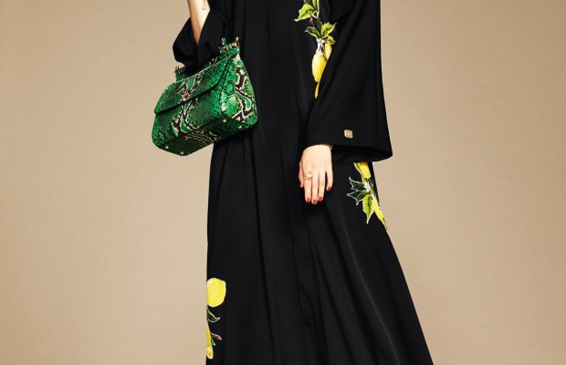 A look from Dolce & Gabbana's hijab and abayas collection. Photo: Style.com/Arabia