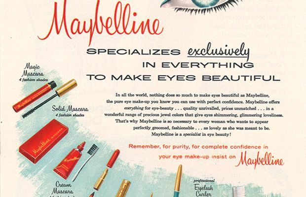 A Maybelline ad from 1960. Photo: Maybelline