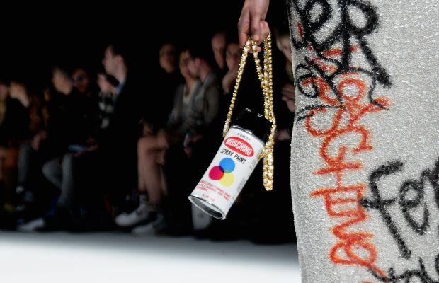 A closeup from Moschino's fall/winter 2015 collection, shown in Milan in February. Photo: Fulvio De Filippi/Getty Images