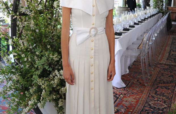 Alexa Chung in Alessandra Rich. Photo: Getty Images
