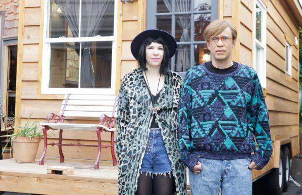 Carrie Brownstein and Fred Armisen showing off Amanda Needham's costume design work on 'Portlandia.' Photo: Augusta Quirk/IFC