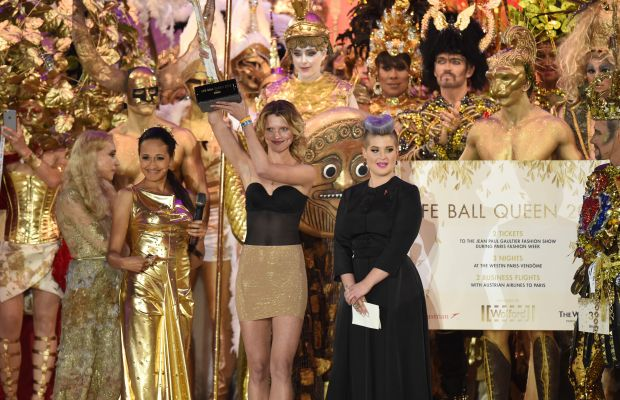 Franca Sozzani and Kelly Osbourne at the Life Ball opening ceremony. Photo: Nigel Treblin/Life Ball 2015/Getty Images