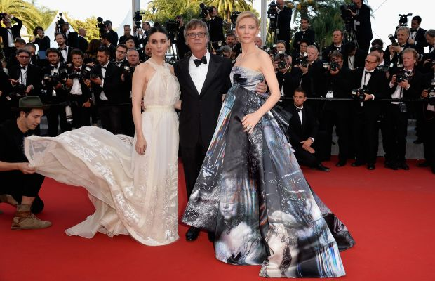 """Rooney Mara, director Todd Haynes and Cate Blanchett attend the Premiere of """"Carol"""" at the Cannes Film Festival on May 17. Photo: Pascal Le Segretain/Getty Images"""