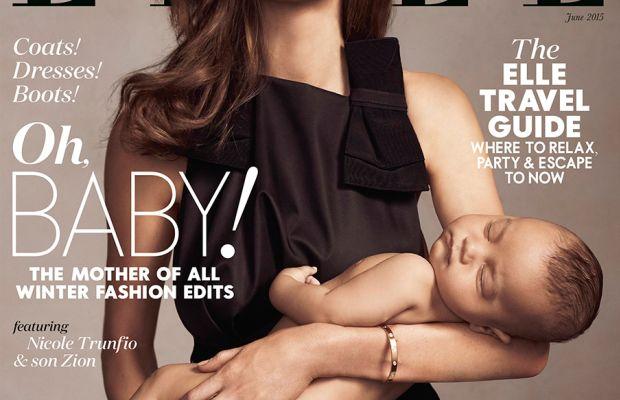 The newsstand cover. Photo: Georges Antoni/Elle Australia