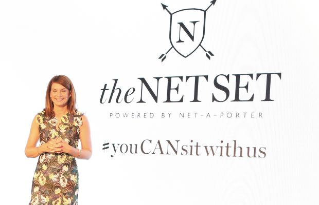 Natalie Massenet at the launch of The Net Set, Net-a-Porter's mobile-based social network, earlier this month. Photo: David M. Benett/Getty Images