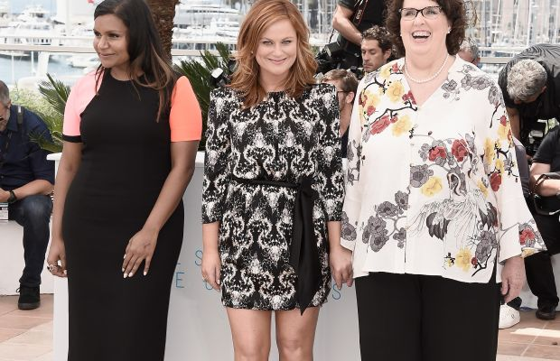 "Mindy Kaling, Amy Poehler and Phyllis Smith at the ""Inside Out"" photocall during the 68th annual Cannes Film Festival. Photo: Andreas Rentz/Getty Images"