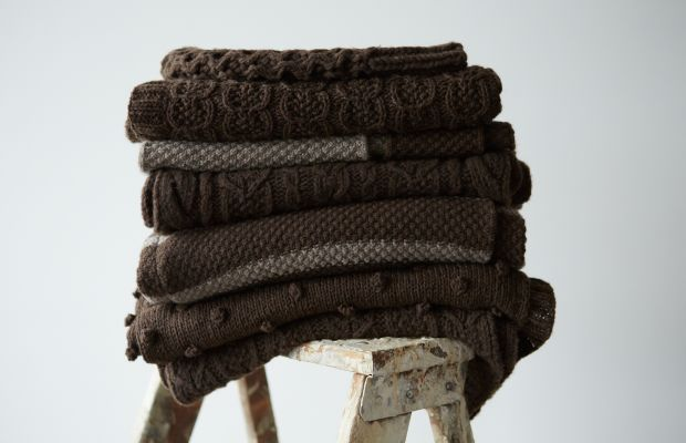 Knit pieces made from baby yak yarn. Photo: Myak