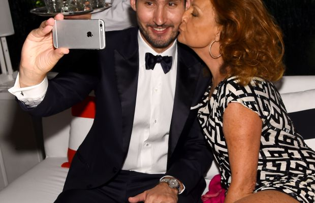 Instagram co-founder Kevin Systrom took a selfie with designer and CFDA President Diane von Furstenberg at the CFDA Awards Monday evening.