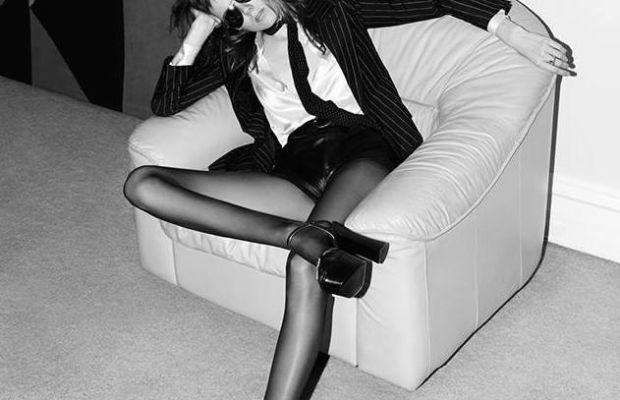 Model Kiki Willems in the spring 2015 Saint Laurent campaign. Photo: Hedi Slimane