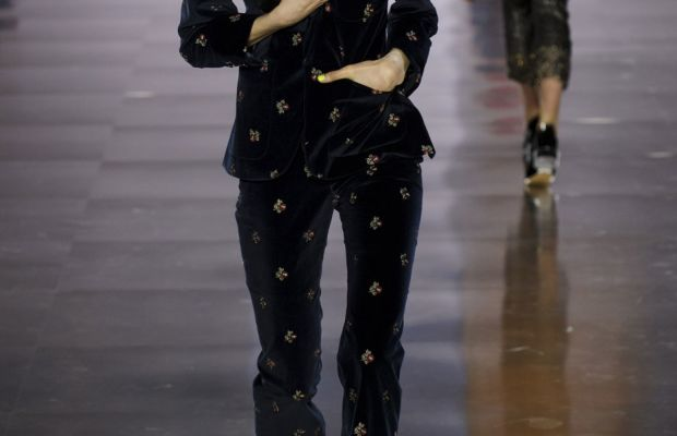 A look from Maison Margiela's fall 2015 collection. Photo: Imaxtree