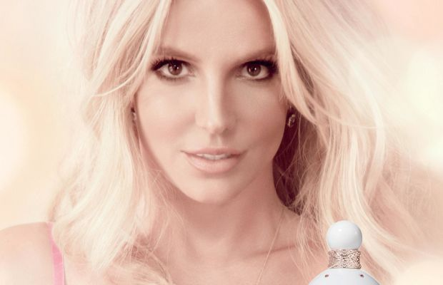 Britney Spears advertising her latest fragrance, Fantasy Britney Spears: Intimate Edition. Photo: Elizabeth Arden Inc.