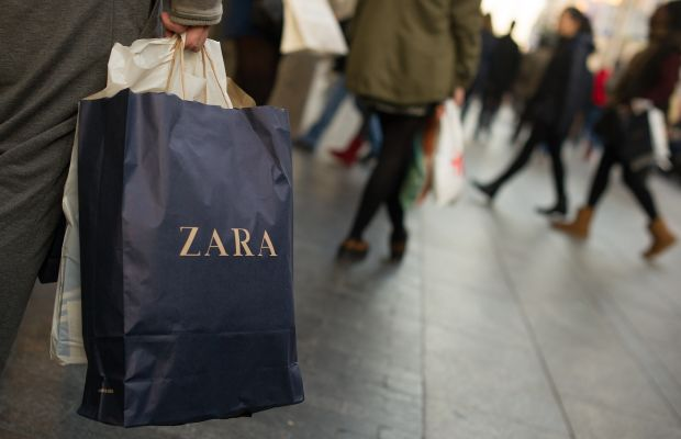 A Zara shopper in Madrid. Photo: Dennis Doyle/Getty Images