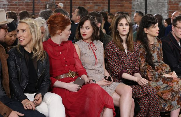 Front row at Gucci's resort 2016 show in New York. Photo: Neilson Barnard/Getty Images