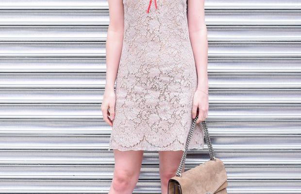 Dakota Johnson in Gucci. Photo: BFA