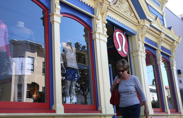A Lululemon store in San Francisco. Photo: Justin Sullivan/Getty Images