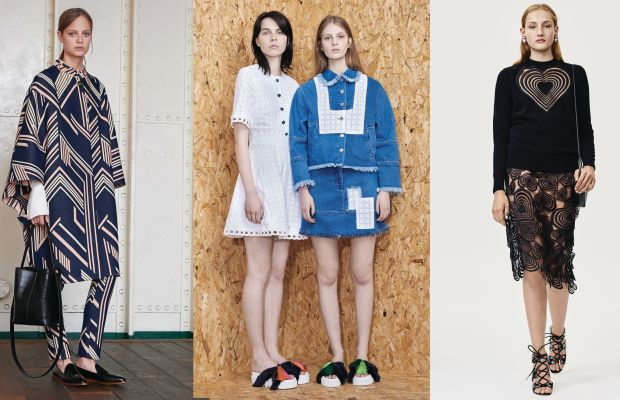 Resort looks from Mulberry, House of Holland and Christopher Kane. Photos: Mulberry, House of Holland, Christopher Kane
