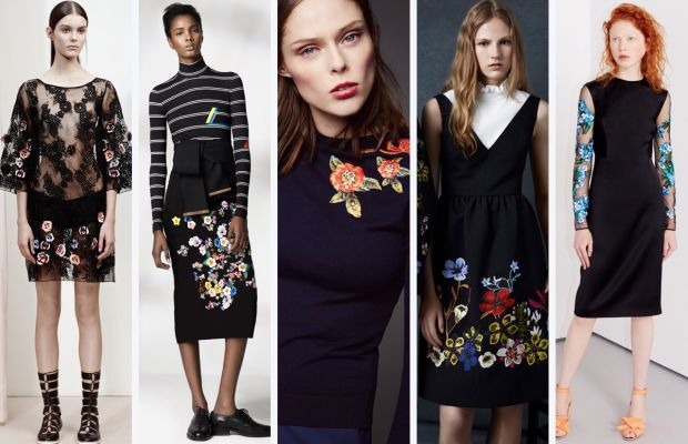 From left to right: Suno, Preen by Thornton Bregazzi, Zac Posen, Erdem and Jonathan Saunders. Photos: Courtesy