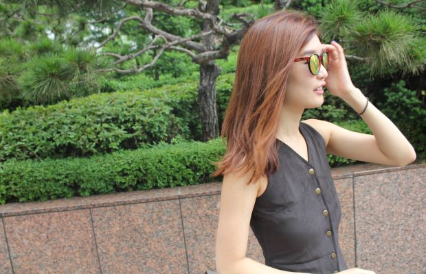 Sokoglam's Charlotte Cho models Seoul's hottest hair color. Photo: Cheryl Wischhover/Fashionista