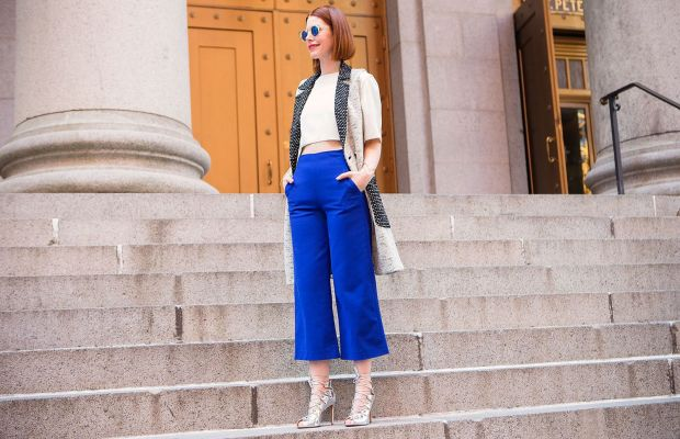 Christene Barberich in her signature cropped trousers. Photo: Kristiina Wilson