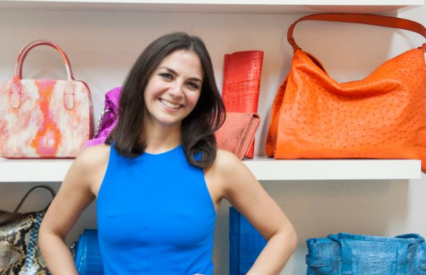 Kate Falchi in the showroom. Photo: Elyssa Maxx Goodman for Style Solutions NYC