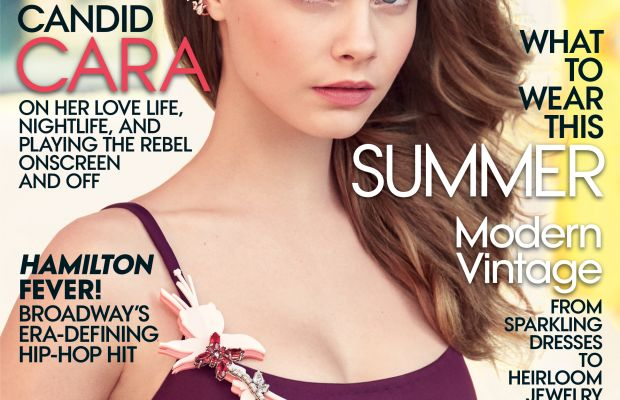 Cara Delevingne on the July cover of 'Vogue.' Photo: Patrick Demarchelier/Vogue