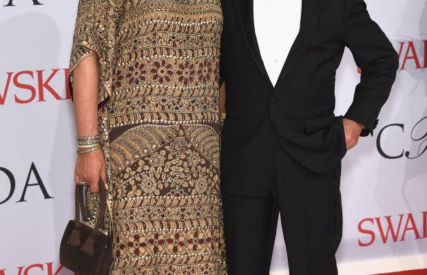 Stan Herman and his former right-hand woman Fern Mallis at the 2015 CFDA Awards. Photo: Dimitrios Kambouris/Getty Images