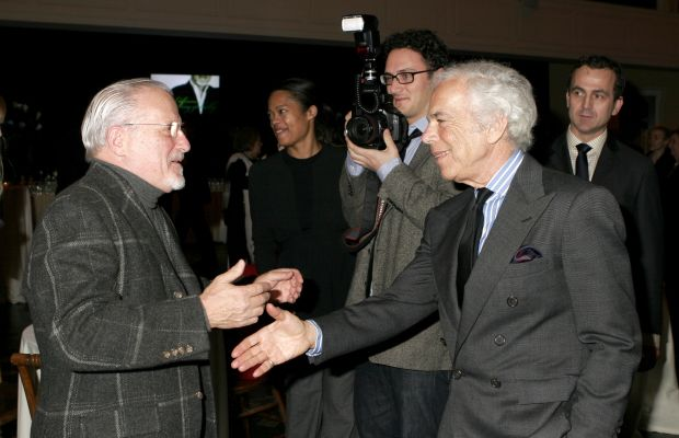 Stan Herman and Ralph Lauren at the FedEx and CFDA celebration of Herman's 16-year CFDA presidency in 2006. Photo: Donna Ward/Getty Images