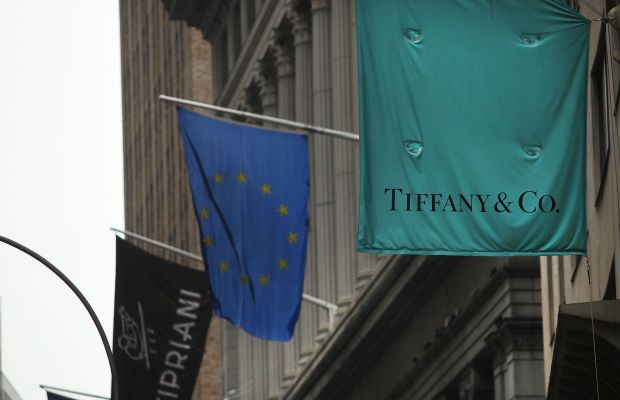 In front of a Tiffany & Co. Photo: Spencer Platt/Getty Images News