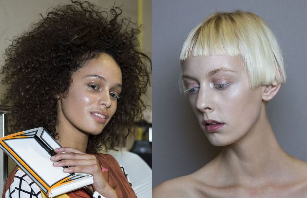 The beauty look from the S/S 2015 Issey Mikaye show, which is often used to illustrate strobing. Photos: Imaxtree