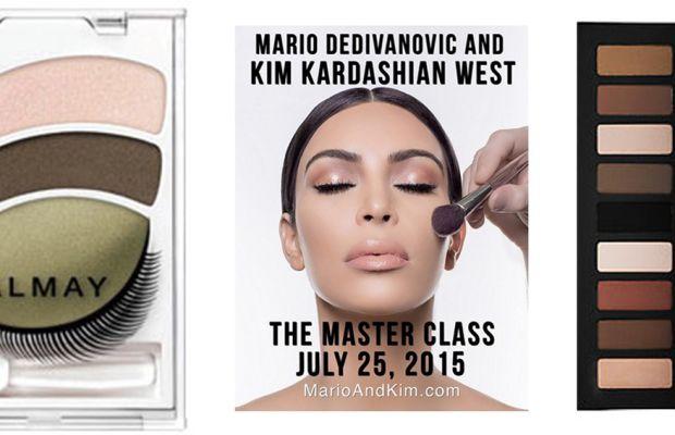 Old school eye shadow vs. newfangled eye contouring. Photos: Almay, Kim Kardashian/Instagram and Sephora