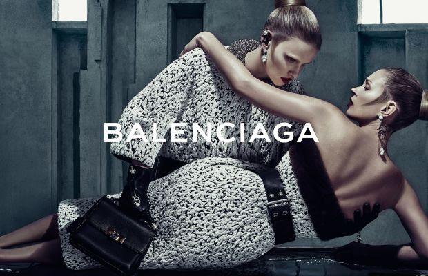 Lara Stone and Kate Moss in Balenciaga's fall 2015 campaign. Photo: Balenciaga