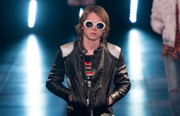 A look from Saint Laurent's men's collection. Photo: Imaxtree