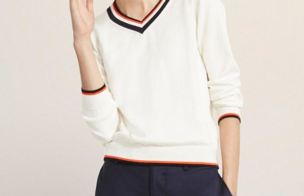 ED V-Neck Tennis Sweater, $145, available at ED