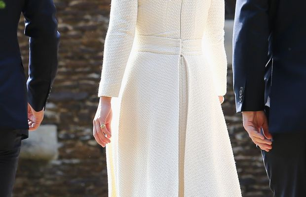 Strategically placed pleats cover Pippa's famous bum. Photo: Chris Jackson/Getty Images