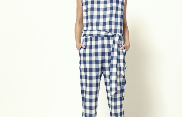 A gingham print sourced from Japan for spring 2015. Photo: Atelier Delphine