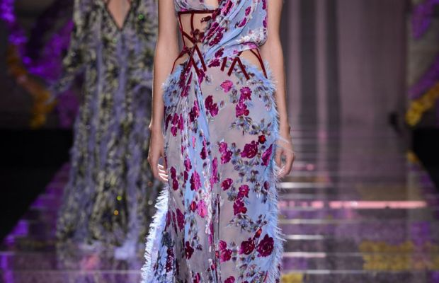 A look from Atelier Versace's fall 2015 collection. Photo: Imaxtree