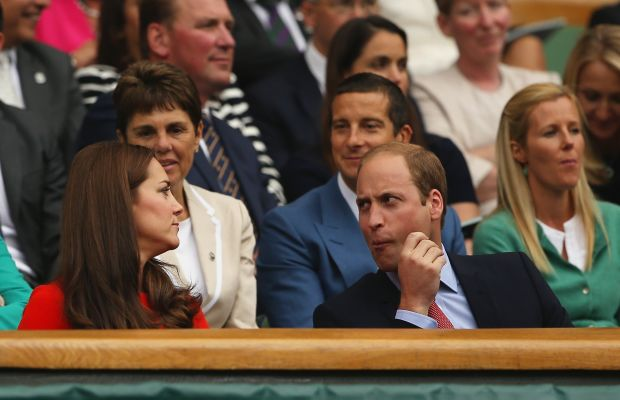 Dear Bear Grylls, we can see you ogling Kate Middleton. Sincerely, everyone. Photo: Ian Walton/Getty Images