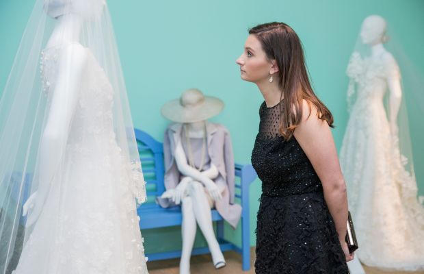 Sloane Mayberry at the exhibit's opening night. Photo: SCAD