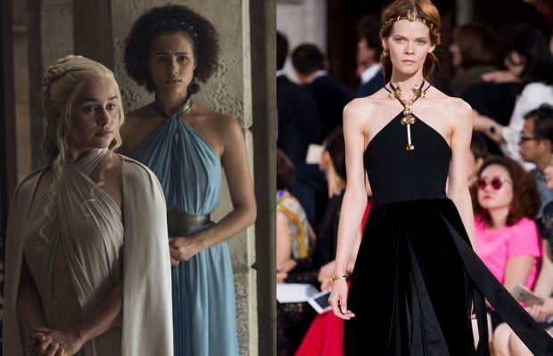 Similar necklines. Photos: HBO/Imaxtree
