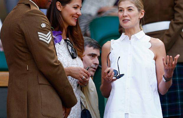 Rosamund Pike at Wimbledon. Photo: Julian Finney/Getty Images