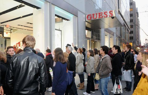 The opening of Guess's New York City flagship in April 2011. Photo: Jamie McCarthy/Getty Images