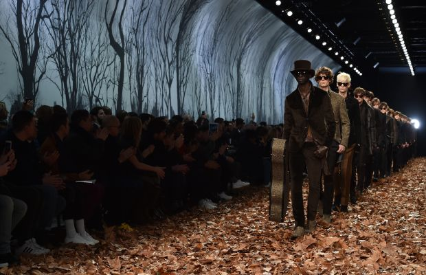 The runway from John Varvatos Fall 2015 show in Milan. Photo: Stefania d'Alessandro/Getty Images.