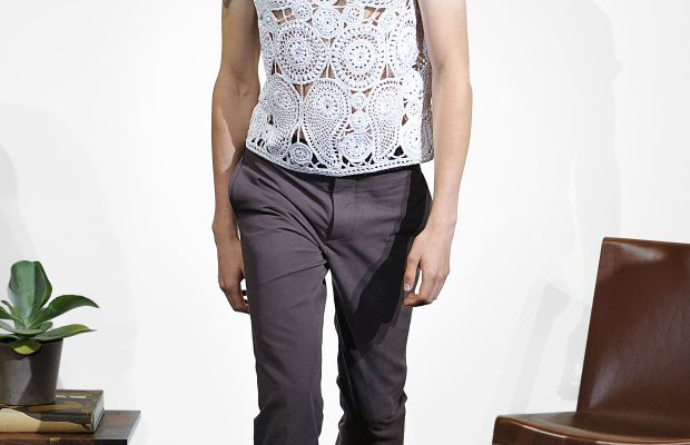 A model at the Orley presentation. Photo: Orley
