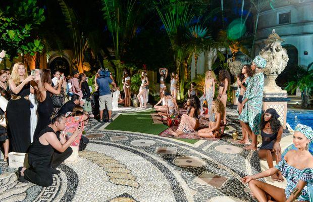 Mara Hoffman's presentation at the Versace Mansion. Photo: BFA