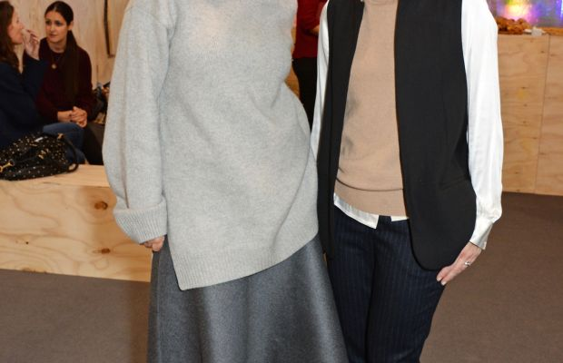 Rebekka Bay, left, at a Gap event in October. Photo: David M. Benett/Getty Images for Gap