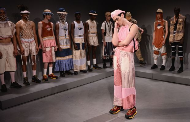 Models at the Gypsy Sport presentation during New York Fashion Week: Men's. Photo: Stephen Lovekin/Getty Images.