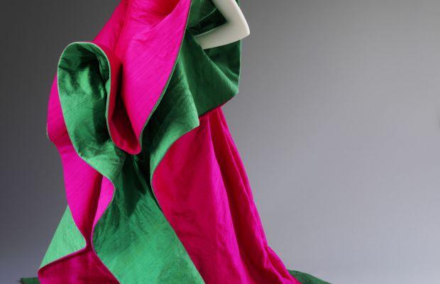 Roberto Capucci. Silk evening dress, 1987–88. Courtesy Roberto Capucci Foundation. Photo © Victoria and Albert Museum, London
