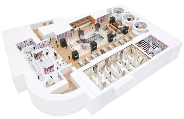 A plan for the Disney floor at the Shanghai Uniqlo flagship. Photo: Uniqlo