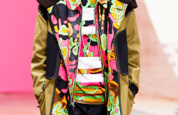 A (women's) look from Coach's show at London Collections: Men in June. Photo: Tristan Fewings/Getty Images